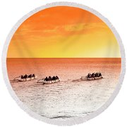 Outrigger Pastels Round Beach Towel