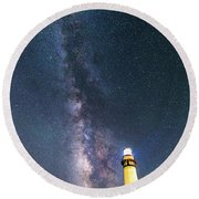 Round Beach Towel featuring the photograph Outshining The Day by Alex Lapidus