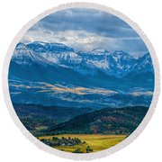 Outside Of Ridgway Round Beach Towel