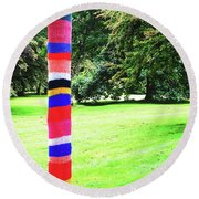 Outstanding In Its Field Round Beach Towel