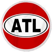 Round Beach Towel featuring the photograph Oval Atl Atlanta Georgia Home Pride by Keith Webber Jr