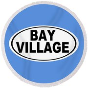 Round Beach Towel featuring the photograph Oval Bay Village Ohio Home Pride by Keith Webber Jr