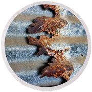 Round Beach Towel featuring the photograph Over And Above by Stephen Mitchell