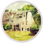 Round Beach Towel featuring the photograph Over Grown by Julie Hamilton
