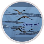 Over Icy Waters Carry On Round Beach Towel