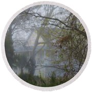 Round Beach Towel featuring the photograph Over The Back Fence View by Laura Ragland