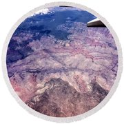 Over The Canyon Round Beach Towel