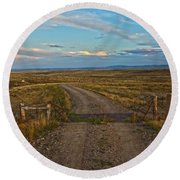 The Road Less Traveled Round Beach Towel