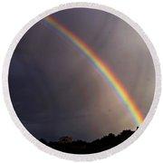 Over The Rainbow Round Beach Towel by Joseph Frank Baraba