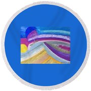 Over The Waves Round Beach Towel