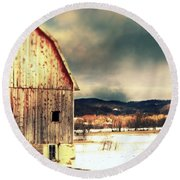 Round Beach Towel featuring the photograph Over Yonder by Julie Hamilton