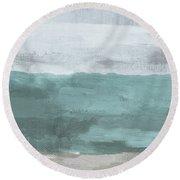 Overcast- Art By Linda Woods Round Beach Towel