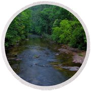 Overflow Creek Round Beach Towel by Barbara Bowen
