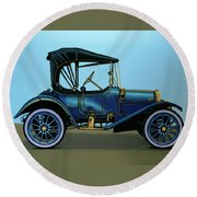Overland 1911 Painting Round Beach Towel by Paul Meijering