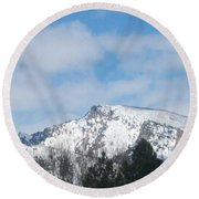 Overlooking Blodgett Round Beach Towel by Jewel Hengen