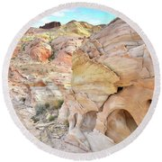 Overlooking Wash 5 In Valley Of Fire Round Beach Towel