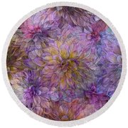 Overwhelming Fragrance Round Beach Towel