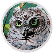 Owl Be Seeing You Round Beach Towel by Tom Riggs
