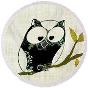Owl Design - 23a Round Beach Towel