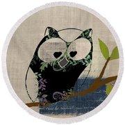 Owl Design - J140149146-v19 Round Beach Towel