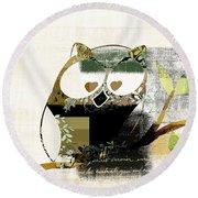 Owl Design - J164049167-v03 Round Beach Towel