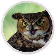 Owl Tongue Round Beach Towel