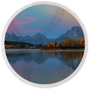 Oxbows Reflections Round Beach Towel