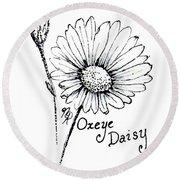 Oxeye Daisy Round Beach Towel