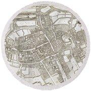 Oxford England 1675 Round Beach Towel