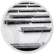 Oyster Farm Round Beach Towel
