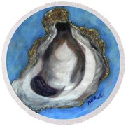 Oyster Shell 1 Round Beach Towel
