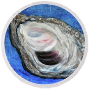 Oyster Shell 2 Round Beach Towel