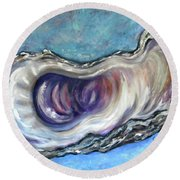 Oyster Shell 3 Round Beach Towel