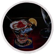 Oyster Shooter Round Beach Towel