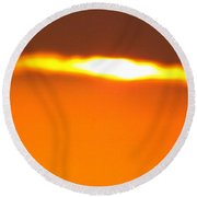 Ozark Sunset 2 Round Beach Towel