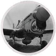 P-40 Warhawk - Flying Tiger Round Beach Towel