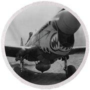 P-40 Warhawk - Flying Tiger Round Beach Towel