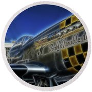 P-51 Double Trouble Two Round Beach Towel