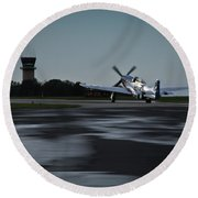 Round Beach Towel featuring the photograph P-51  by Douglas Stucky