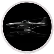 P-51 Mustang Profile Round Beach Towel by David Collins