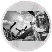 P-51 Mustang - Series 4 Round Beach Towel