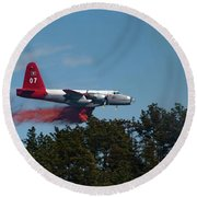 P2v Red Canyon Fire Round Beach Towel