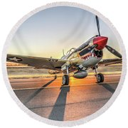 P40 Warhawk At Sonoma Round Beach Towel