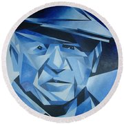 Pablo Picasso The Blue Period Round Beach Towel