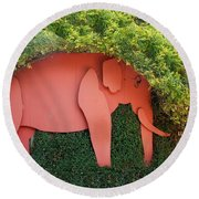 Pachyderm Sign Round Beach Towel