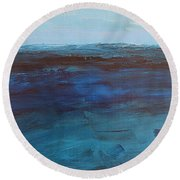 Pacific Blue Round Beach Towel