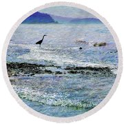 Pacific Buffet Round Beach Towel by Ed Hall
