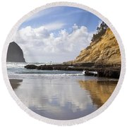 Pacific City, Oregon, United States Of Round Beach Towel