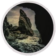 Pacific Coast Of Olympic National Park Round Beach Towel