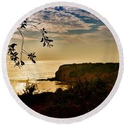 Pacific Cove Paradise Round Beach Towel by Joseph Hollingsworth